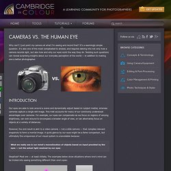 Cameras vs. The Human Eye