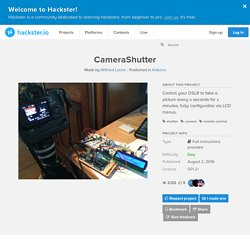 CameraShutter - Arduino Project Hub