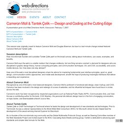 Cameron Moll & Tantek Çelik – Design and Coding at the Cutting Edge