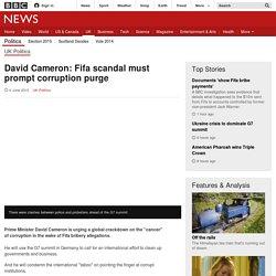 David Cameron: Fifa scandal must prompt corruption purge - BBC News