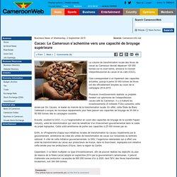 Cacao: Le Cameroun s'achemine vers une capacité de broyage supérieure