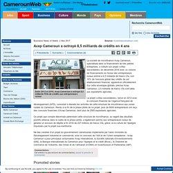 Acep Cameroun a octroyé 8,5 milliards de crédits en 4 ans