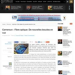 Cameroun - Fibre optique: De nouvelles boucles en vue