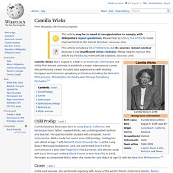 Camilla Wicks 1928-