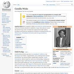 Camilla Wicks 1928-