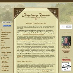 Camino Trip Planning Tips