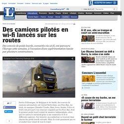 Des camions pilotés en wi-fi lancés sur les routes - Insolites