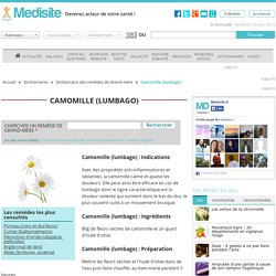 Camomille (lumbago)