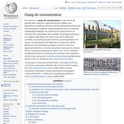 Camp de concentration