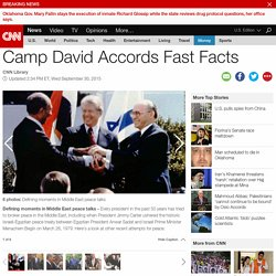 Camp David Accords Fast Facts