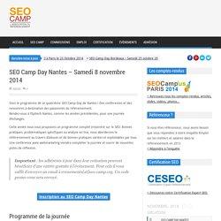 SEO Camp Day Nantes – Samedi 8 novembre 2014