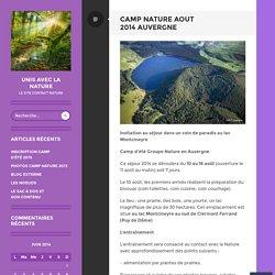 Camp nature Aout 2014 Auvergne