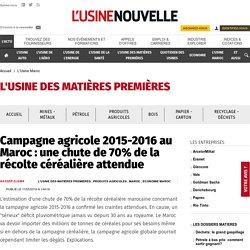 Campagne agricole 2015-2016 au Maroc: une chute de 70% de la récolte céréalière attendue - L'Usine Maroc