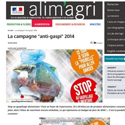 """La campagne """"anti-gaspi"""" 2014"""