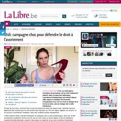 Chili: campagne choc pour défendre le droit à l'avortement