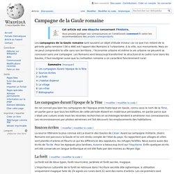 Campagne de la Gaule romaine