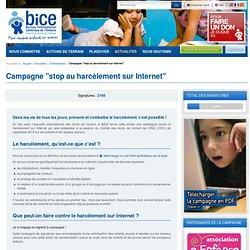 """Campagne """"stop au harcèlement sur Internet"""""""