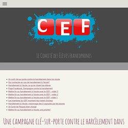 Campagne Harcèlement - Le CEF