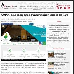 COP21: une campagne d'information lancée en RDC