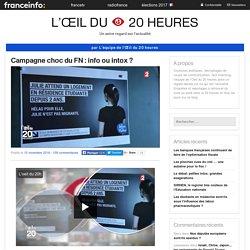 Campagne Choc Du FN : Info Ou Intox ?