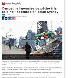 """Campagne japonaise de pêche à la baleine: """"abominable"""", selon Sydney"""