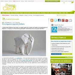 Une campagne Kickstarter pour un éléphant... de papier