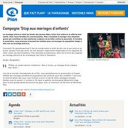 Campagne 'Stop aux mariages d'enfants'