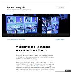 Web campagne : l'échec des réseaux sociaux militants