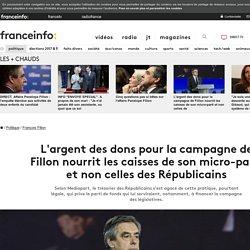 L'argent des dons pour la campagne de Fillon nourrit les caisses de son micro-parti et non celles des Républicains