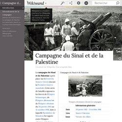Campagne du Sinaï et de la Palestine