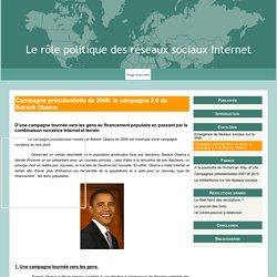 Campagne présidentielle de 2008: la campagne 2.0 de Barack Obama