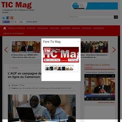 L'AUF en campagne de promotion des cours en ligne au Cameroun
