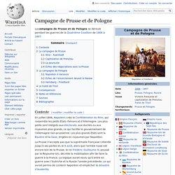 Campagne de Prusse et de Pologne