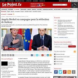 Angela Merkel en campagne pour la réélection de Sarkozy