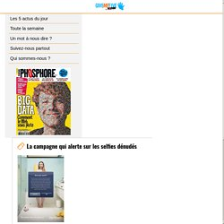 La campagne qui alerte sur les selfies dénudés – Give Me Five by Phosphore