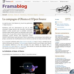 La campagne d'Obama et l'Open Source