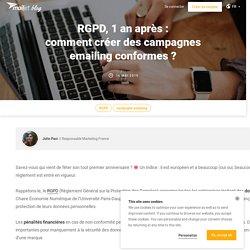 Comment créer des campagnes emailing conformes au RGPD ?