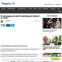 10 campagnes de street marketing qui méritent un Oscar – Happie's