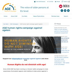 AGE human rights campaign against ageism
