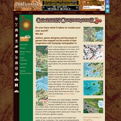 Campaign Cartographer 3 (CC3) RPG and fantasy map making software