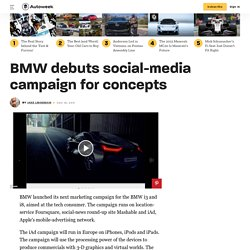 BMW debuts social-media campaign for concepts
