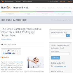 The Email Campaign You Need to Clean Your List & Re-Engage Subscribers