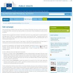 EUROPE - Salt campaign