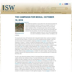 The Campaign for Mosul: October 19, 2016
