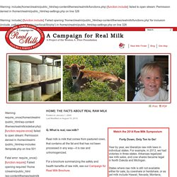 A CAMPAIGN FOR REAL (RAW) MILK!