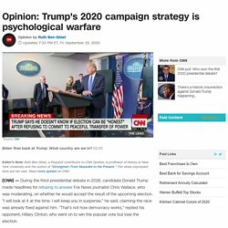Trump's 2020 campaign strategy: psychological warfare (Opinion)