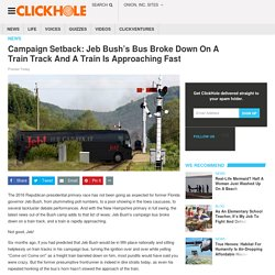 Campaign Setback: Jeb Bush's Bus Broke Down On A