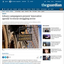 Library campaigners present 'innovative agenda' to rescue struggling sector