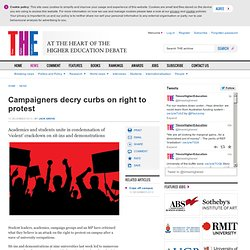 THE: Campaigners decry curbs on right to protest