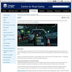 MDT - Campaigns - NSW Centre for Road Safety